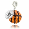 Weber State Wildcats Crystal Drop Charm