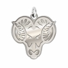 West Chester Golden Rams Natural Finish Charm