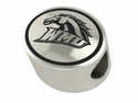 Western Michigan Broncos Antiqued Bead