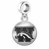 Western Michigan Round Dangle Charm