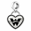 Western State Colorado Mountaineers Border Heart Dangle Charm