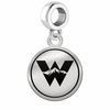 Western State Colorado Mountaineers Border Round Dangle Charm