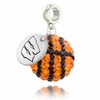 Wisconsin Badgers Crystal Drop Charm
