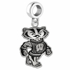 Wisconsin Badgers Logo Cut Out Dangle