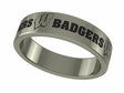 Wisconsin Badgers Stainless Steel Ring