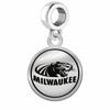 Wisconsin-Milwaukee Panthers Border Round Dangle Charm
