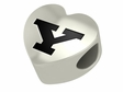 Youngstown State Penguin Heart Shape Bead