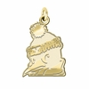 Youngstown State Penguins 14K Yellow Gold Natural Finish Cut Out Logo Charm