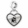Youngstown State Penguins Border Heart Dangle Charm