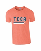 TOCA FC EuroFit Softstyle Heather Orange Tee TFC-10029
