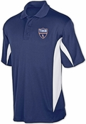 TOCA FC Mens Navy/White Blade Polo TFC-10013