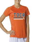 TOCA FC Performance Orange Womens Tee TFC-10037