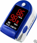 CMS-50DL Fingertip Pulse Oximeter - Blood Oxygen Monitor (Blue) - with Case