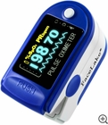 CMS-50D Fingertip Pulse Oximeter - Blood Oxygen Monitor (Blue) - with Case