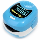 CMS-50 QB Pediatric Fingertip Pulse Oximeter with Alarm - Blue