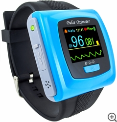 CMS-50F Wristband Pulse Oximeter with Software & Bluetooth