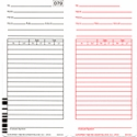 ES1010 TIME CARDS FOR USE WITH THE ACROPRINT ES1000 COMPUTERIZED TOTALING TIME CLOCK, Quantity 1,000 Time Cards
