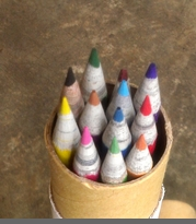 RECYCLED NEWSPAPER COLORED PENCILS - SOLD OUT