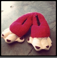 MONKEY FEET -  TODDLER-SIZED SLIPPERS (JUST 1 LEFT!)