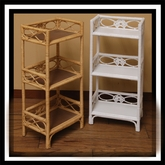 3-Tier Wicker Shelf Stand