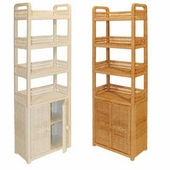 6-Tier Oblong Wicker Floor Shelf