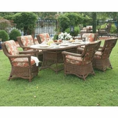 7 Piece Legacy Outdoor Wicker Dining Set