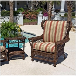 Bar Harbor Outdoor Wicker Wingback Chair