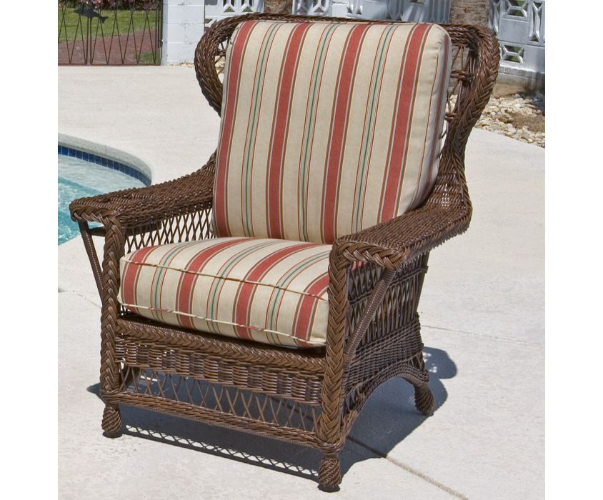 BHOWAC Bar Harbor Outdoor Wicker Wingback Chair