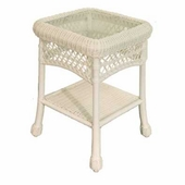 Cape Charles Resin Wicker Square End Table