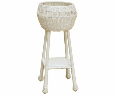 Cape Charles Round Wicker Planter
