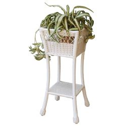 Cape Charles Square Wicker Planter