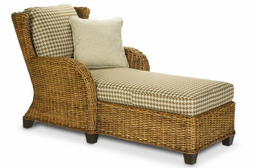 Clarissa Rattan Chaise Lounge Chair