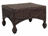 Closed Weave Wicker Ottoman