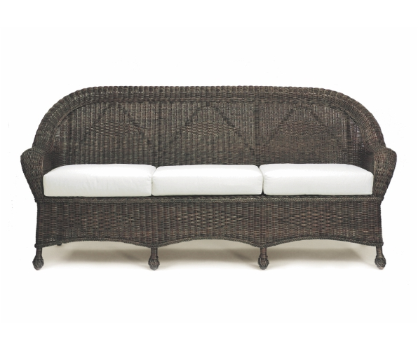 Closed Weave Wicker Sofa