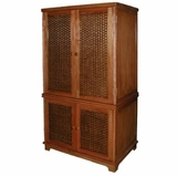 Cottage 4-Door Wicker TV Armoire
