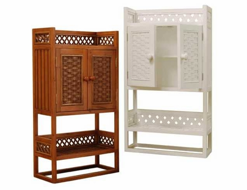 towel bar wicker bathroom cabinet