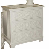 Cottage Wicker 3 Drawer Chest