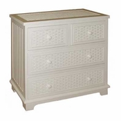 Cottage Wicker 4 Drawer Split Top Chest
