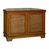 Cottage Wicker Corner TV Cabinet
