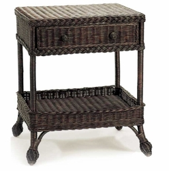 Cottage Wicker End Table