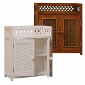 Cottage Wicker Medicine Cabinet