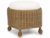Eastern Shore Cushioned Wicker Ottoman