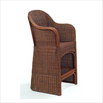 Eastern Shore Wicker Counter Stool