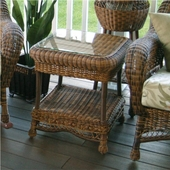 Empire Resin Wicker Patio End Table