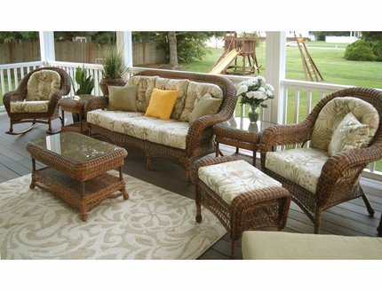 Empire Resin Wicker Patio Furniture Set - DSE3S6 Empire Resin Wicker Patio Furniture Set