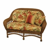 Empire Resin Wicker Patio Settee