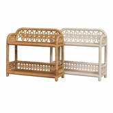 Empress 2 Tier Wicker Wall Shelf