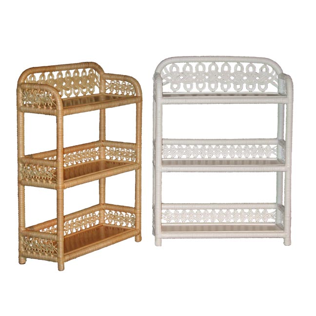 Wicker shelves