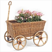 French Country Rattan Farmers Cart