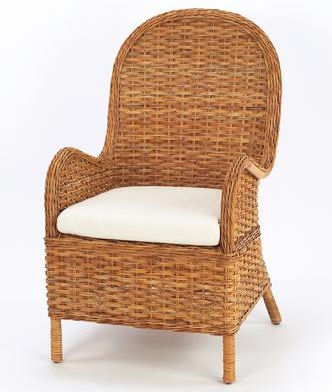 French Country Rattan Garden Chair